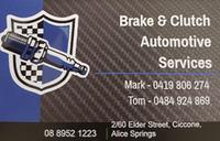Brake & Clutch Automotive Services